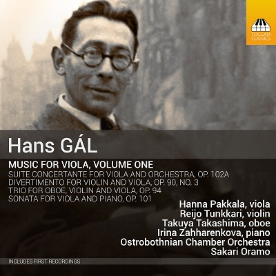 Hans Gál: Music for Viola, volume one
